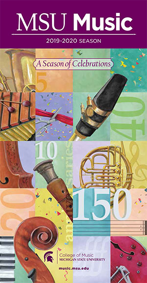 MSU Music 2019-2020 Season of Celebrations Brochure cover