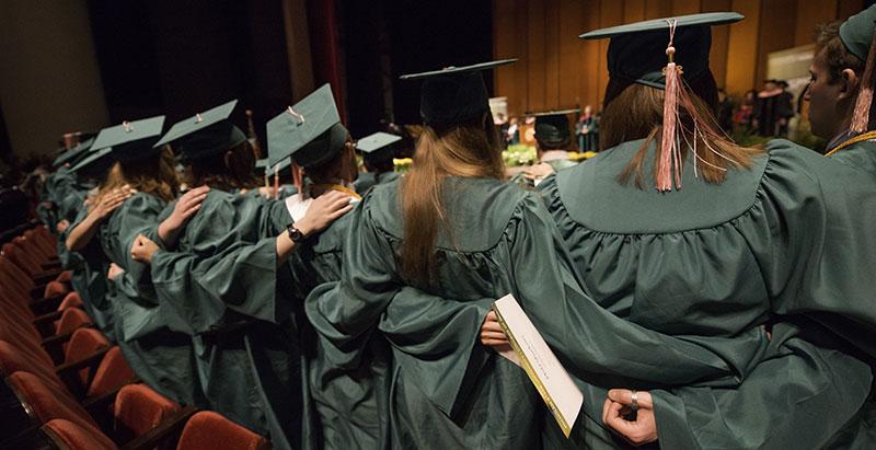 Photo: Music graduates sing MSU Shadows