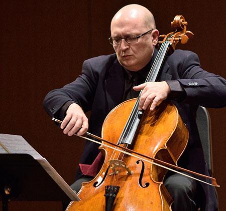 Cellist Suren Bagratuni and the MSU Cello Ensemble