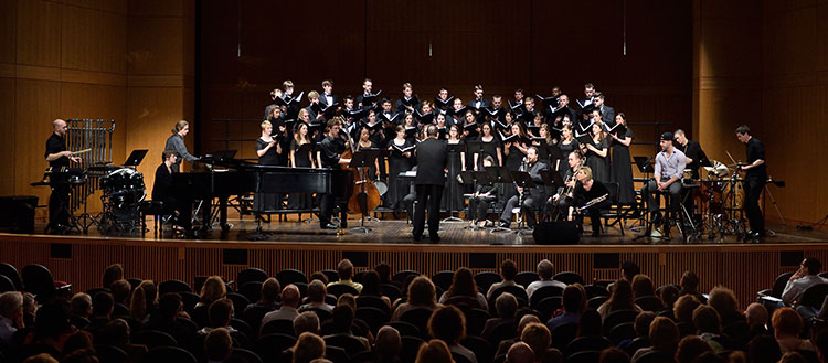 University Chorale, conducted by David Rayl, Fairchild Theatre