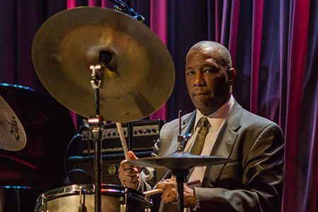 Photo of Kenny Washington performing jazz drums