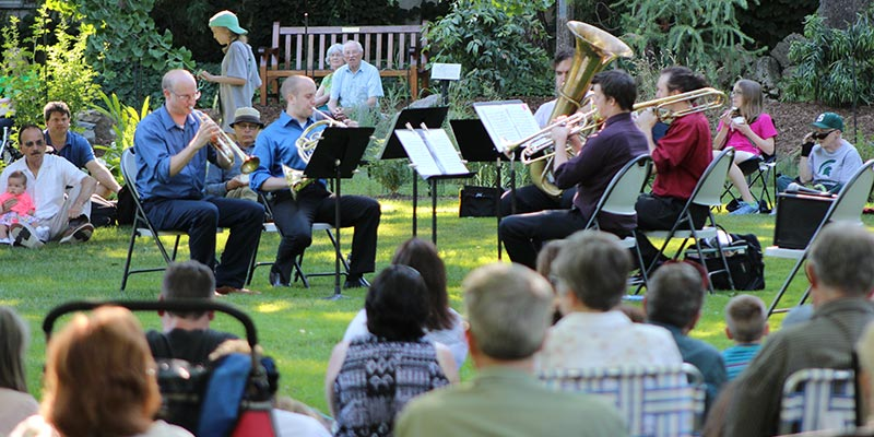 Music in the WJ Beal Botanical Garden