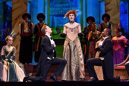 2018 MSU Opera Theatre performance of Johann Strauss II's Die Fledermaus at Fairchild Theatre.