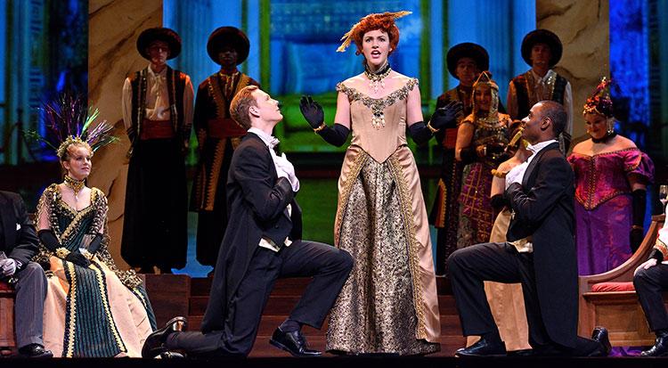 Photo from 2018 performance of Johann Strauss II's Die Fledermaus at Fairchild Theatre.