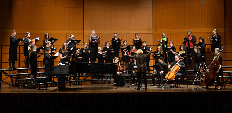 MSU Women's Chamber Ensemble conducted by Sandra Snow.
