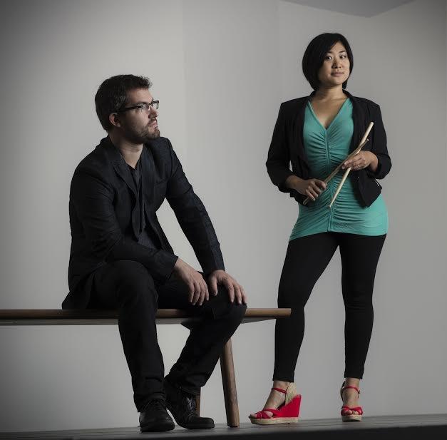 Photo: arx duo percussionists Garrett Arney and Mari Yoshinaga