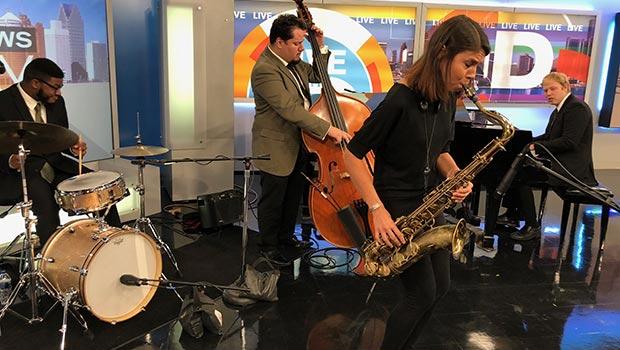 Melissa Aldana, saxophone image