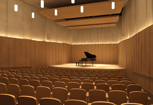 Music Auditorium Transformed College Holds Grand Opening