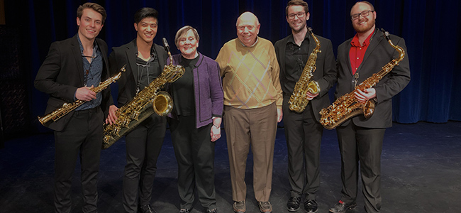 Alumni and MSU retirees Philippa and Chuck Webb created a new performance series for students and added their support to the Billman Music Pavilion, too. image