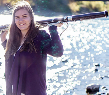 Natalie Law, a masters student in bassoon performance