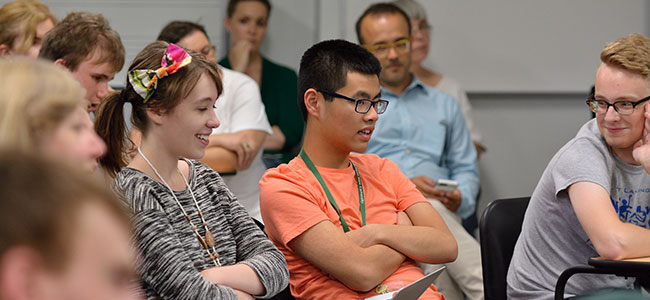 Students attend lectures by national and international educators image