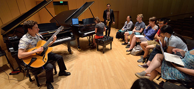 Students learn about the fundamentals of improvisation image