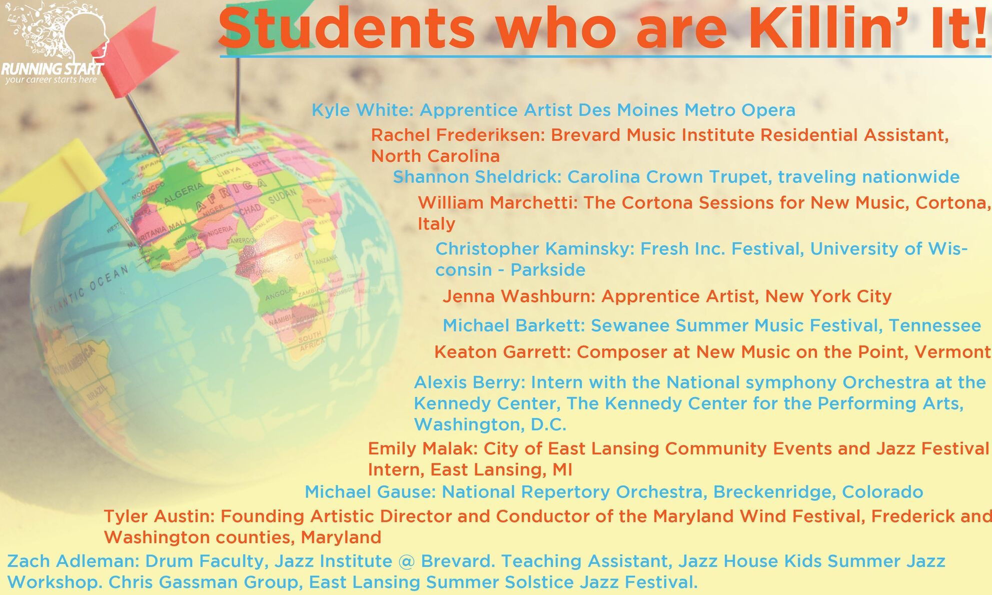 Check out what some of our students are up to this summer! image
