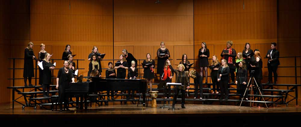 The MSU Women's Chamber Ensemble, conducted by Sandra Snow