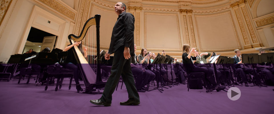 MSU Wind Symphony,<br>taking center stage at Carnegie