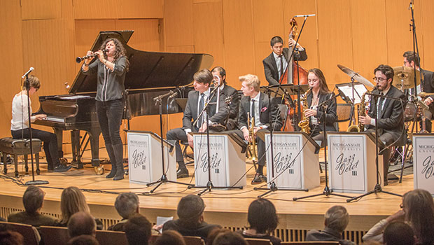 Anat Cohen performs with MSU Jazz Octets at Cook Recital Hall in the Music Building. image