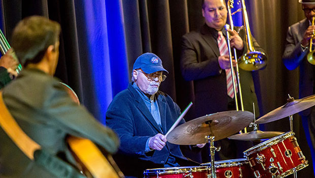 Jimmy Cobb opened the week with the MSU Professors of Jazz during the Blue Mondays concert.  image