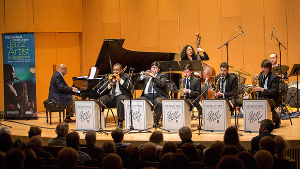 Kenny Barron performs with MSU Octets at Cook Recital Hall in the College of Music. image