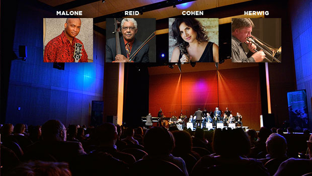 2016-2017 Jazz Artists in Residence: Russell Malone, Rufus Reid, Anat Cohen, and Conrad Herwig image