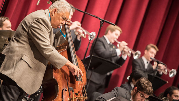 Rufus Reid performs with MSU Jazz Orchestra I at the Fairchild Theatre. image