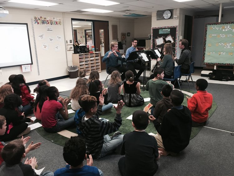 Entrepreneurial COM ensembles engage with students in Waverly Public Schools image