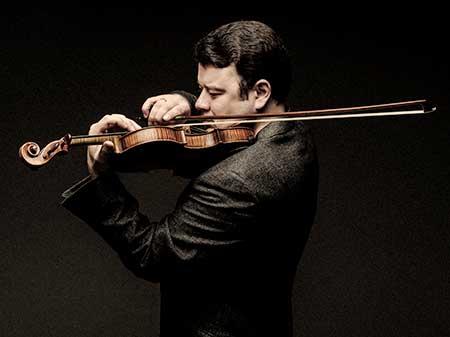Vadim Gluzman and his violin.